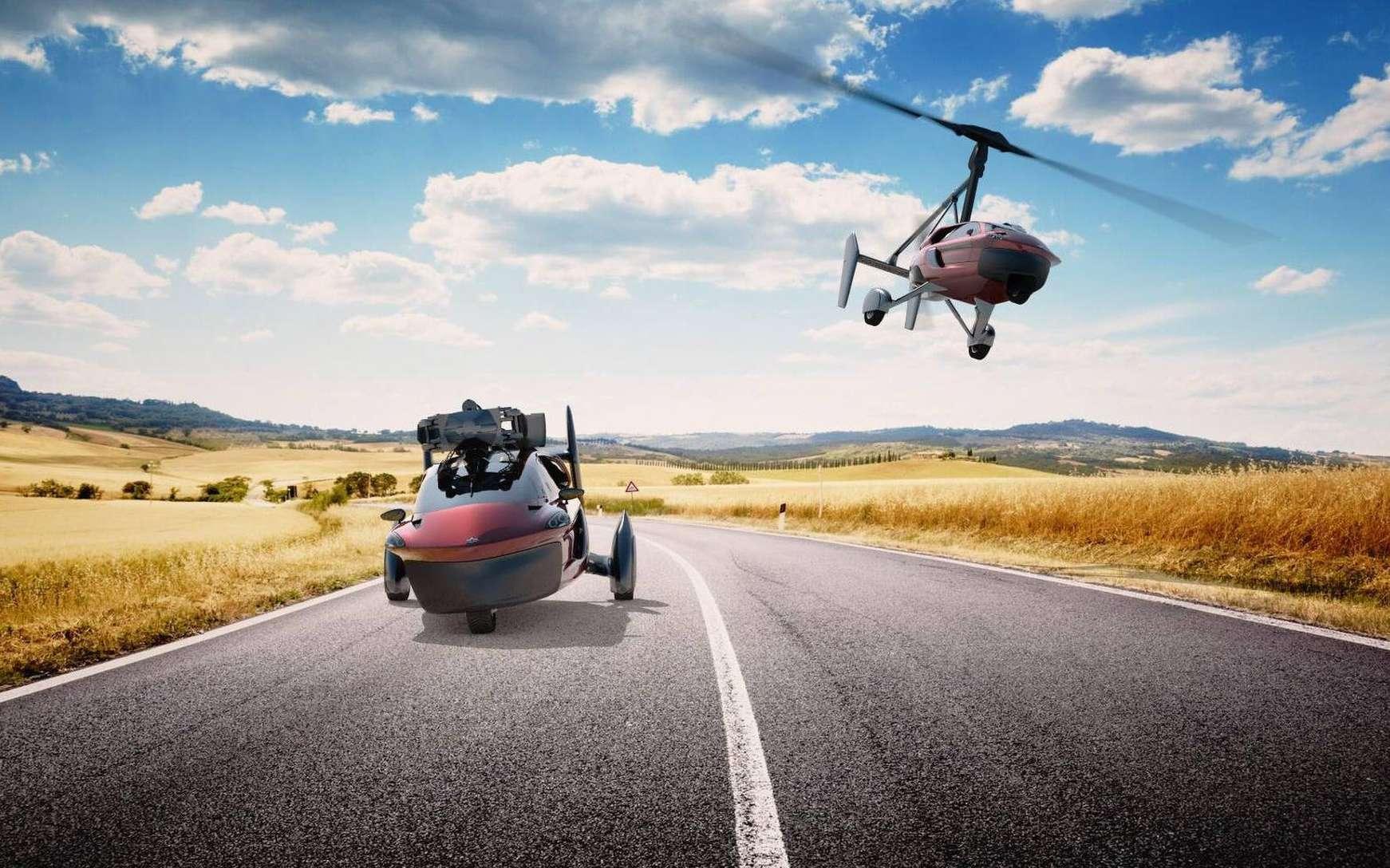 A car that flies, and a plane that drives